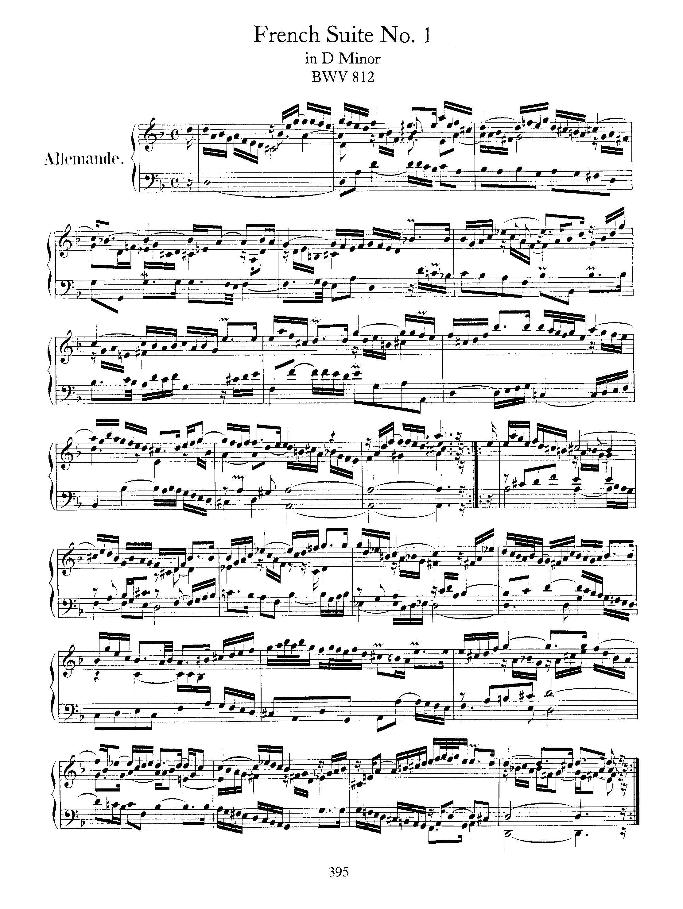 Bach keyboard sheet music for piano