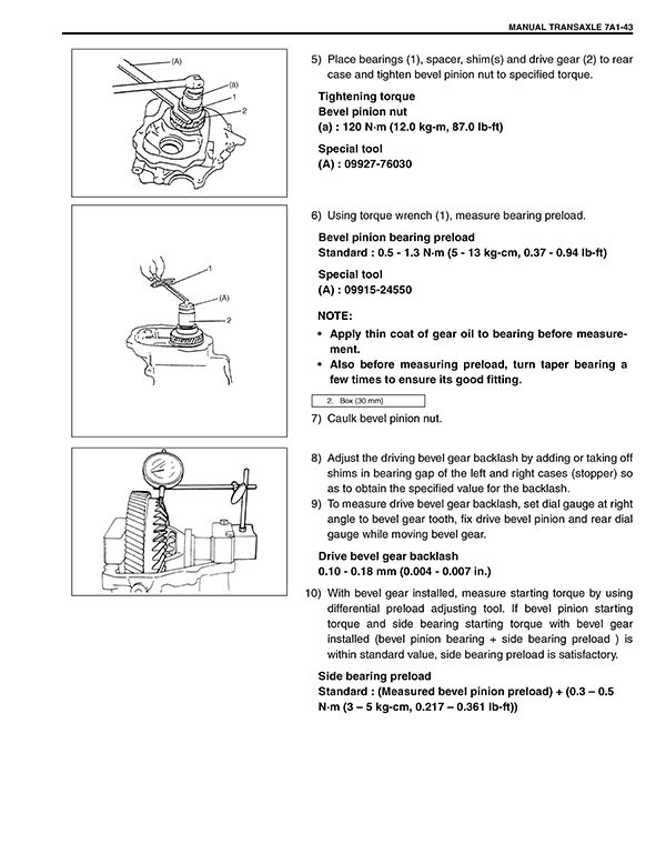 Suzuki Liana Workshop Manual