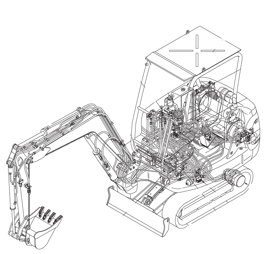 Komatsu Wiring Diagram 40 Circuit Schema Hydraulic Pc03 Pc05 Pc07 Pc09 Pc10 Pc12 Pc15 Pc18 Cat Diesel Engine