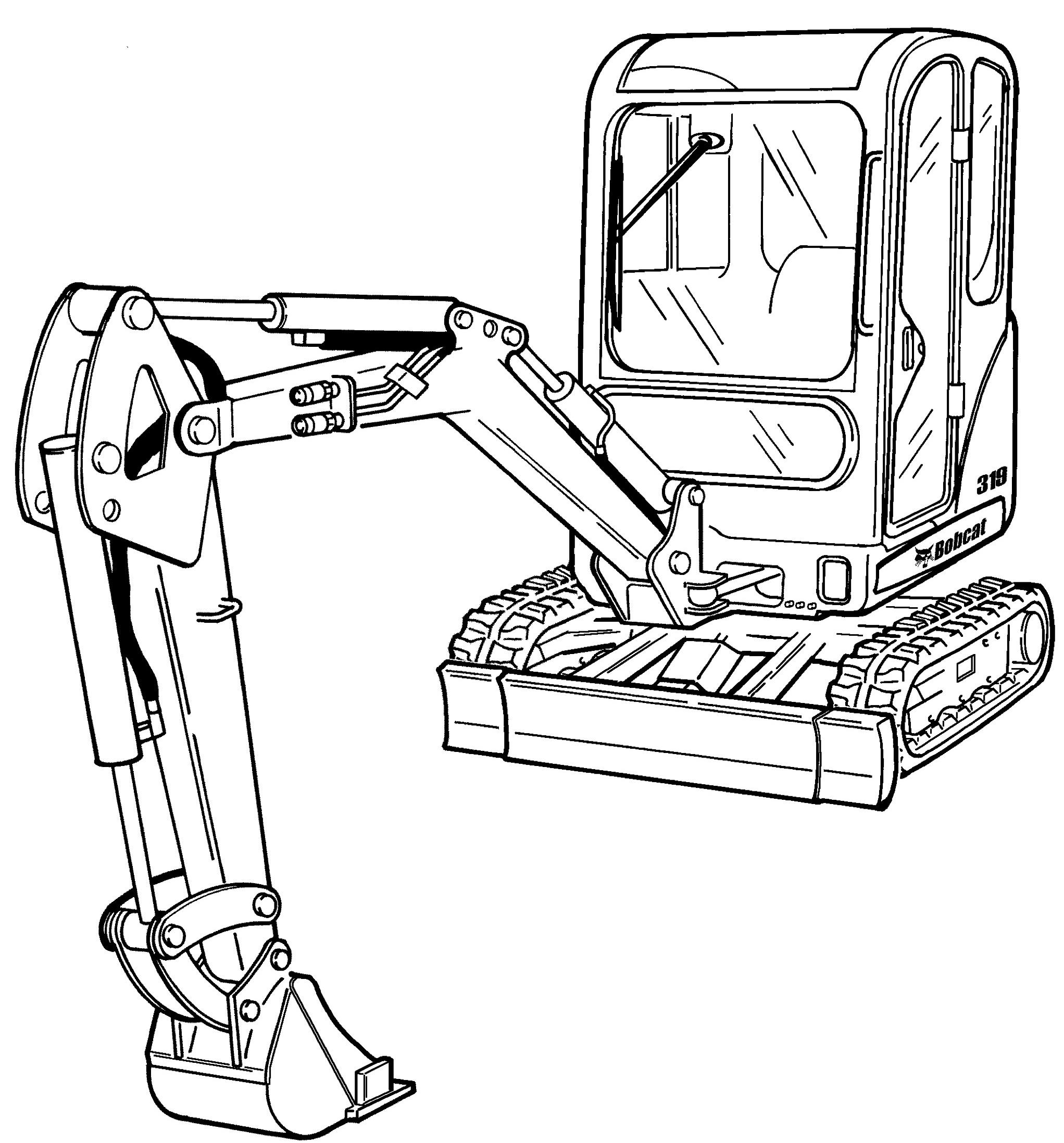 bobcat 319 compact excavator factory service  u0026 shop manual
