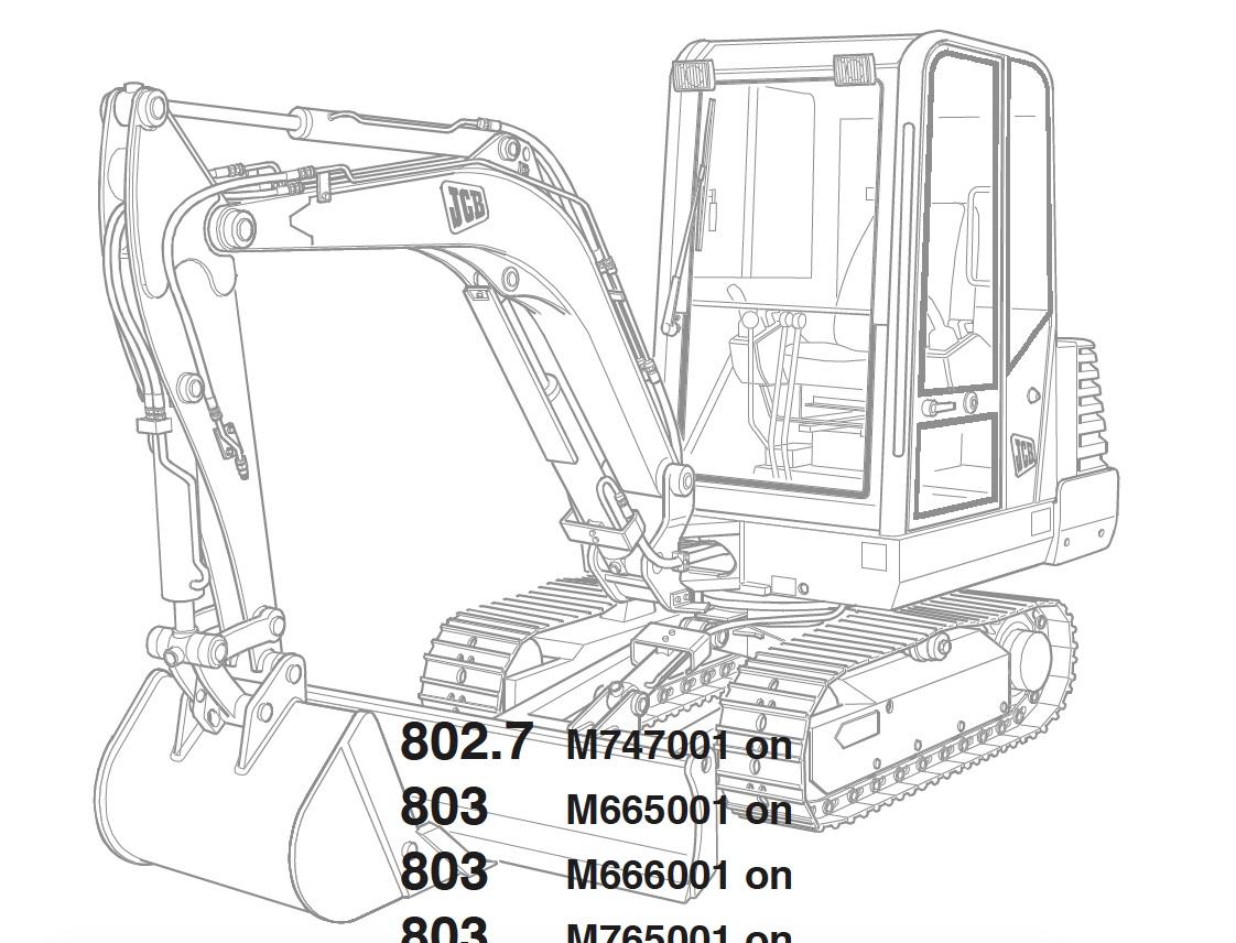 jcb excavators 801  802  803  804 factory service  u0026 shop manual  u2022 pagelarge