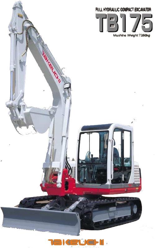 Takeuchi Compact Excavator Tb175 Factory Service  U0026 Shop